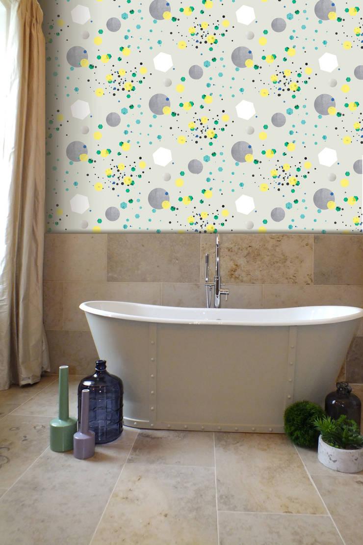 Glitter Canon Wallpaper:  Walls & flooring by Kate Usher Studio