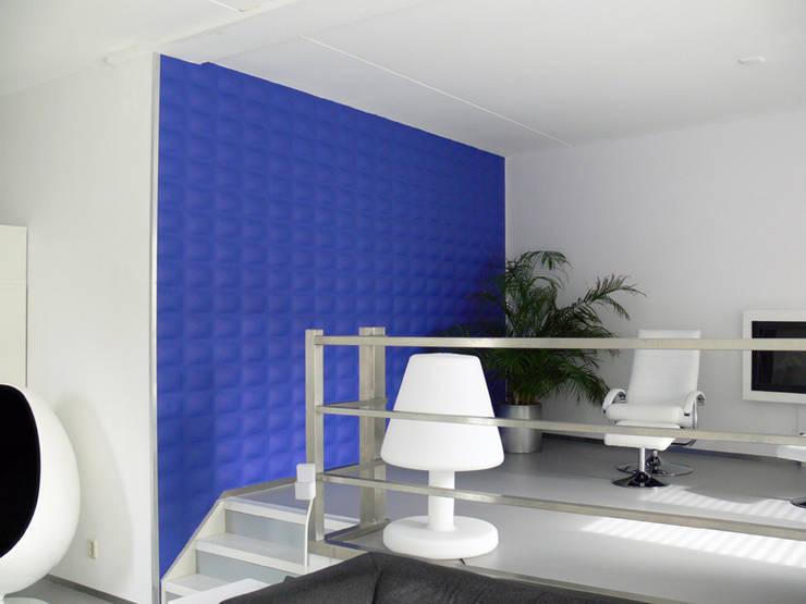 Panel de pared 3D Pads: Paredes y suelos de estilo moderno de Paneles de Pared