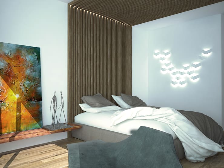 Дом-бетон: Спальни в . Автор – Мастерская Grynevich Dmitriy