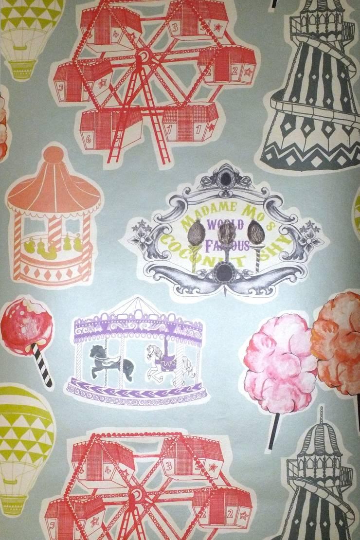 Fair Enough Wallpaper by Kate Usher Studio:  Walls & flooring by Kate Usher Studio