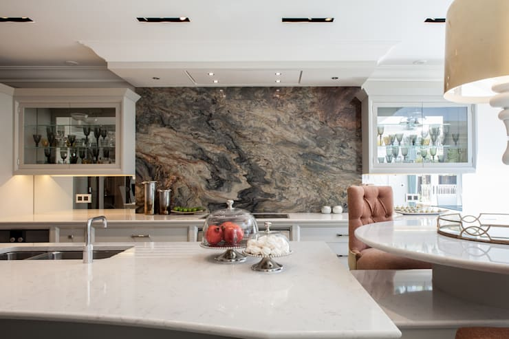 Photography for Kingshall Estates / Vastu Interiors—House in Northwood, London:  Kitchen by Adelina Iliev Photography