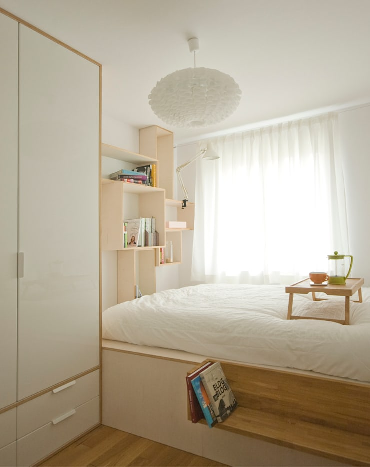 Sypialnia_projekt_BiałyDom: styl , w kategorii Sypialnia zaprojektowany przez MIEJSCA,