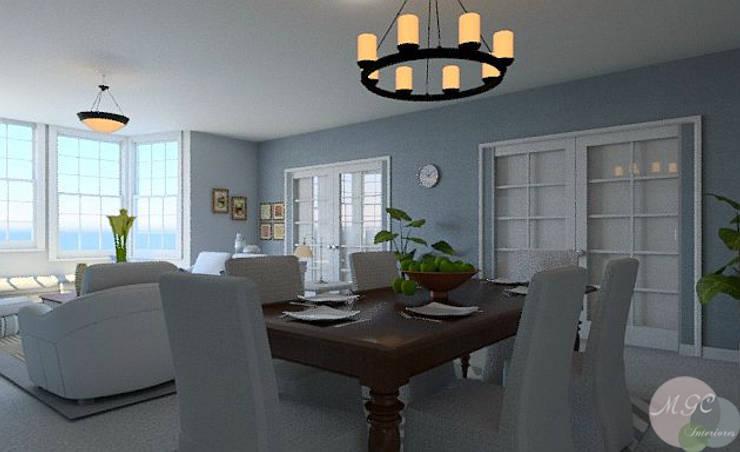 Casa en la playa: Comedor de estilo  de MGC Diseño de Interiores