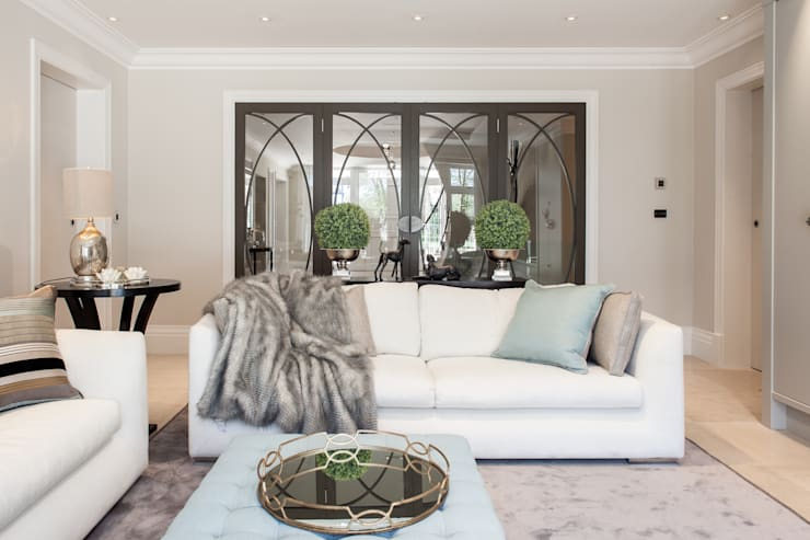 Photography for Kingshall Estates / Vastu Interiors—House in Northwood, London:  Living room by Adelina Iliev Photography
