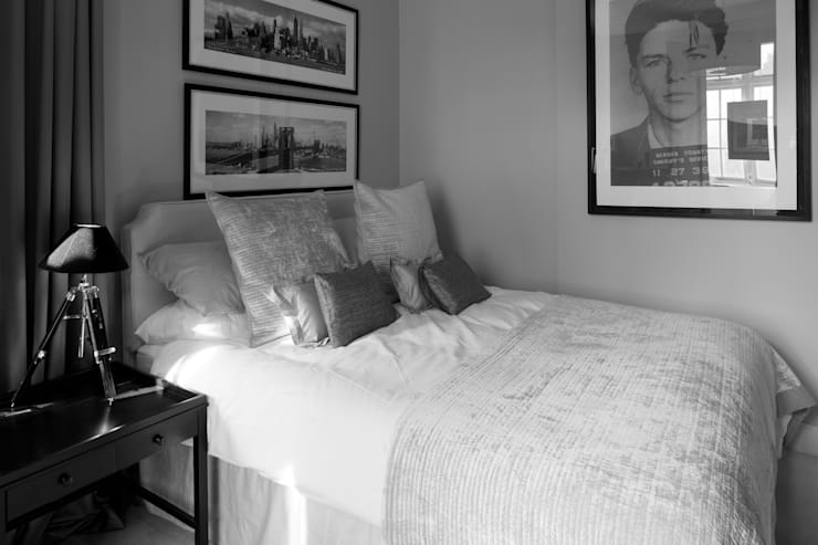 Photography for C-Squared Interiors—Flat in Knightsbridge, London:  Bedroom by Adelina Iliev Photography