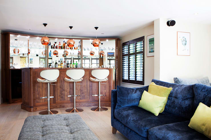 Leisure Room:  Media room by Jane Fitch Interiors