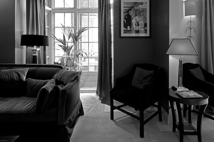 Photography for C-Squared Interiors—Flat in Knightsbridge, London:  Living room by Adelina Iliev Photography