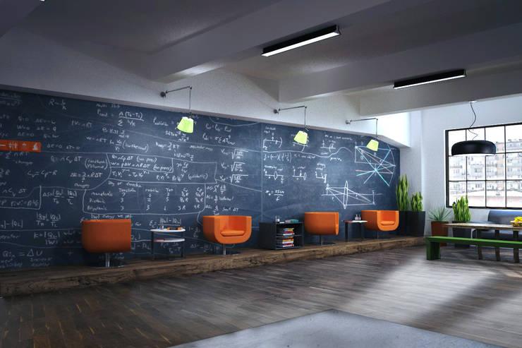 ОФИС IT КОМПАНИИ (ЧЕХИЯ): Офисные помещения в . Автор – Мастерская Grynevich Dmitriy