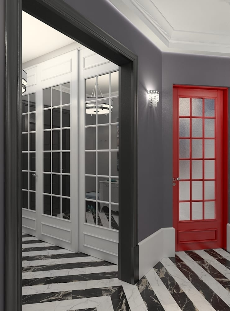 Classic corridor, hallway & stairs by FEDOROVICH Interior Classic