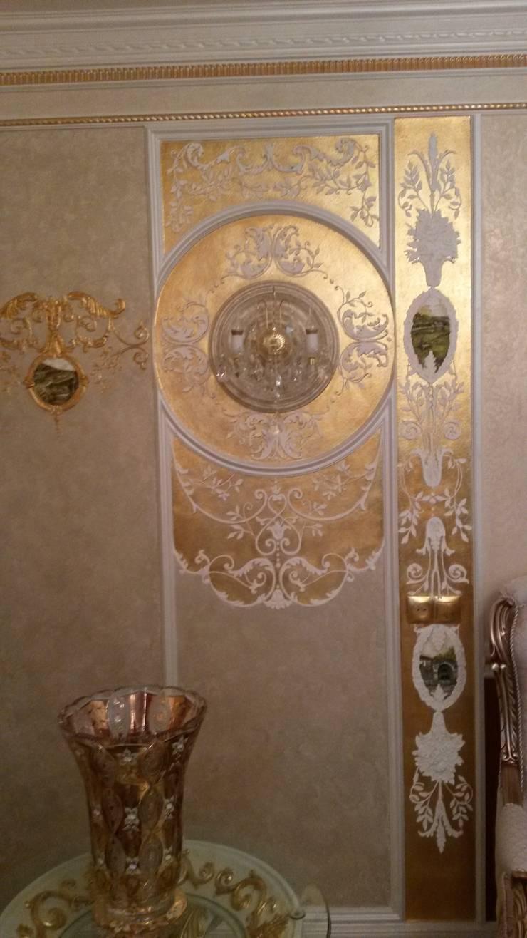 классика на сусальном золоте: Гостиная в . Автор – Абрикос