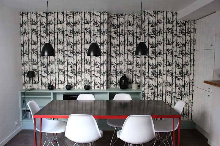 Duplex République: Salle à manger de style  par am alexandra magne