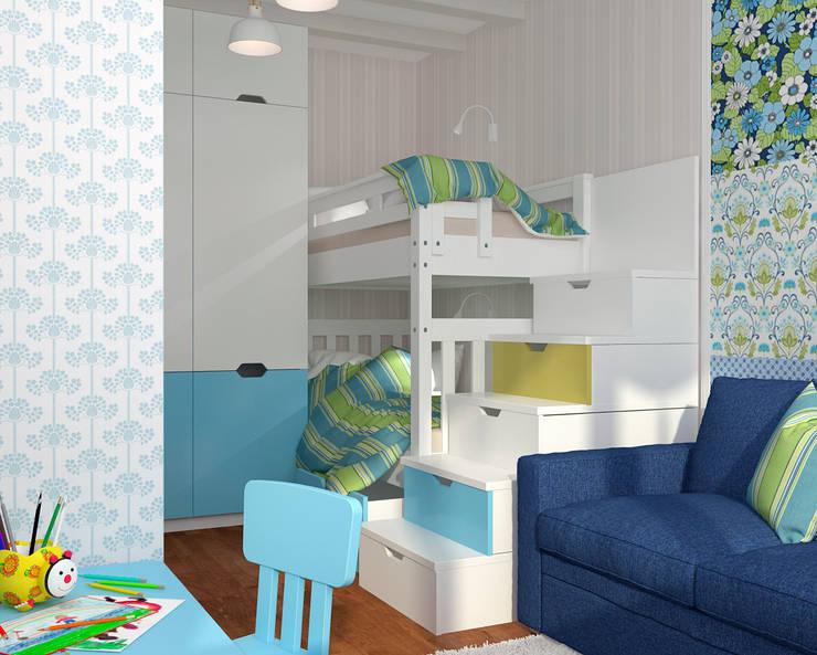 Малогабаритная однушка для молодой семьи: Детские комнаты в . Автор – Мария Трифанова