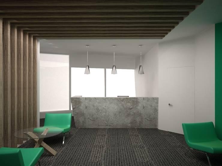 """офис в бизнес-центре """"Пять морей"""": Рабочие кабинеты в . Автор – Архитектурная студия Чадо"""