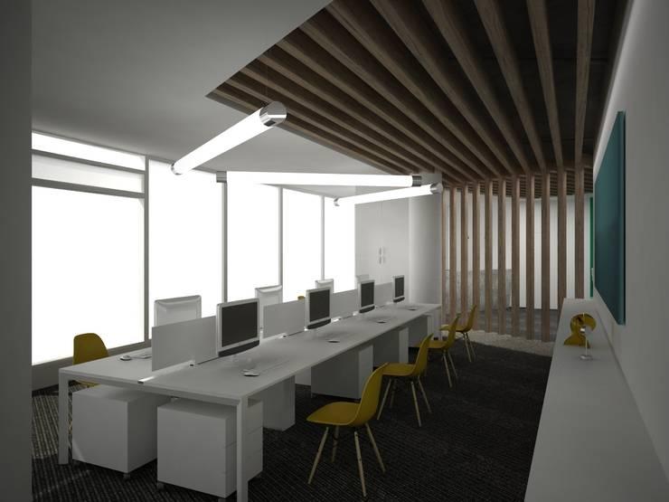 офис в бизнес-центре <q>Пять морей</q>: Рабочие кабинеты в . Автор – Архитектурная студия Чадо