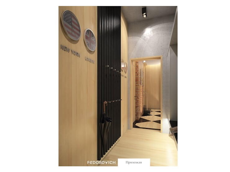 Endüstriyel Koridor, Hol & Merdivenler FEDOROVICH Interior Endüstriyel