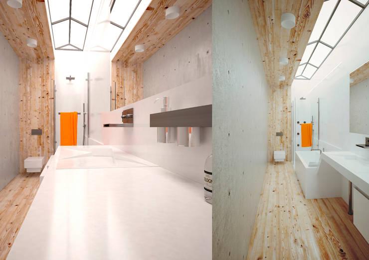 Minimal Apartment BR: Ванные комнаты в . Автор – Мастерская Grynevich Dmitriy