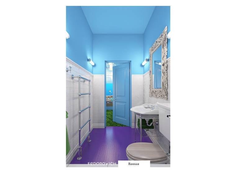 Лавандово-лазурный  прованс с парижским акцентом: Ванные комнаты в . Автор – FEDOROVICH Interior