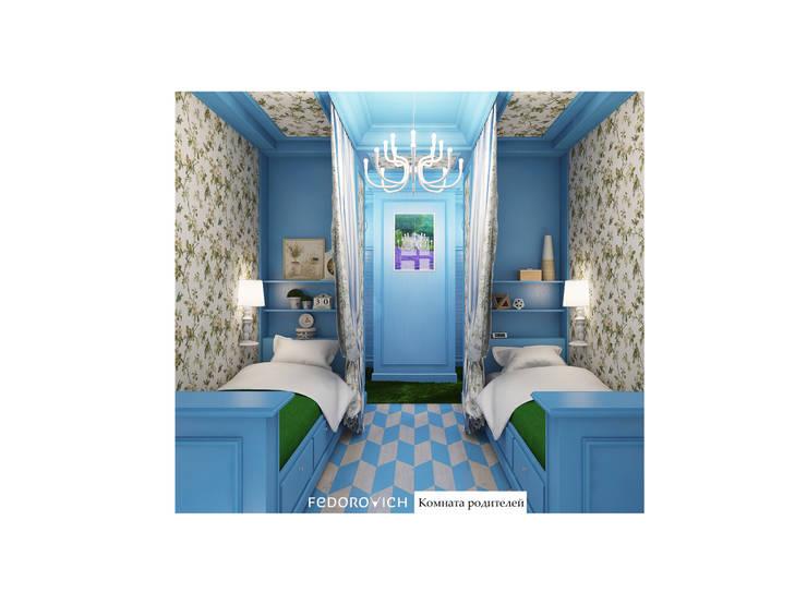 Habitaciones de estilo  por FEDOROVICH Interior