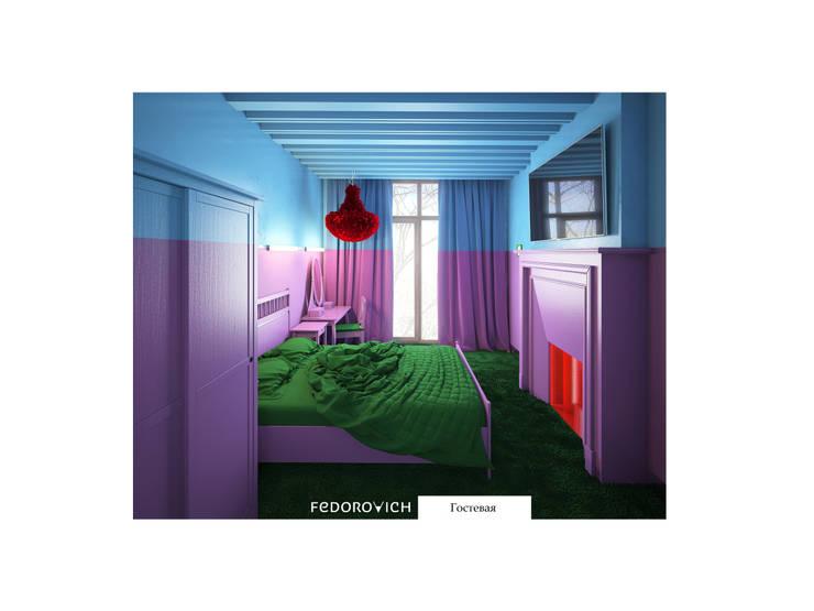 Лавандово-лазурный  прованс с парижским акцентом: Спальни в . Автор – FEDOROVICH Interior