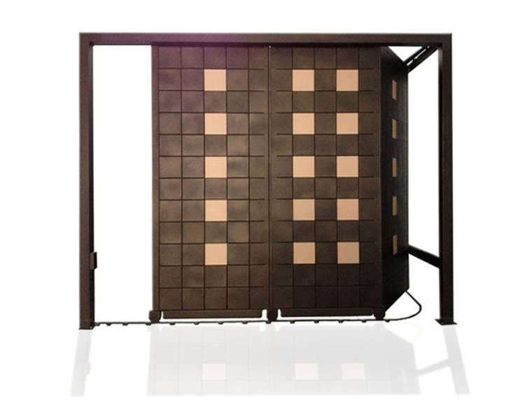 Puerta de garaje corredera-seccional Pixéling®: Puertas y ventanas de estilo  de Puerta Bonita