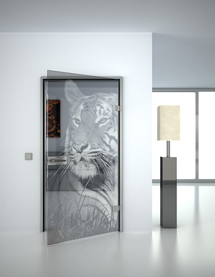 Glastüren mit gelaserten Motiven von Lionidas Design GmbH ...