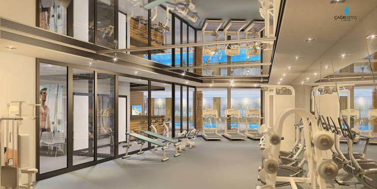 Çağrı Aytaş İç Mimarlık İnşaat – YILDIZ PLAZA PREMIUM: modern tarz Fitness Odası
