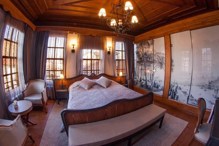 BOYTORUN ARCHITECTS – BARTIN KAF KONAK - ODA TASARIMI: modern tarz Yatak Odası