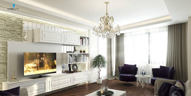 Çağrı Aytaş İç Mimarlık İnşaat – YILDIZ PLAZA PREMIUM: klasik tarz tarz Oturma Odası