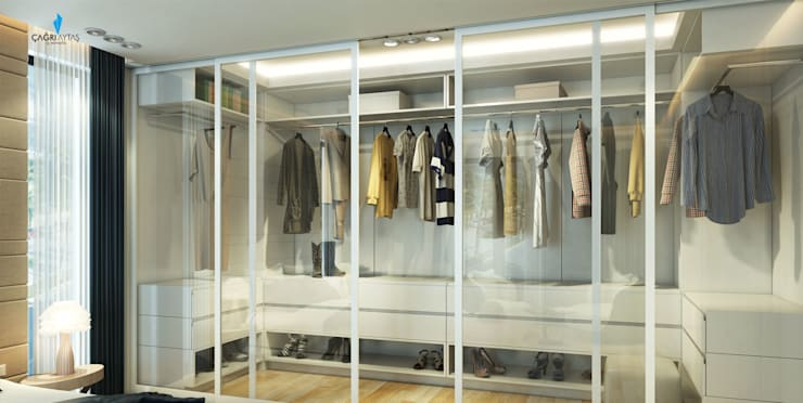 Vestidores y closets de estilo  por Çağrı Aytaş İç Mimarlık İnşaat