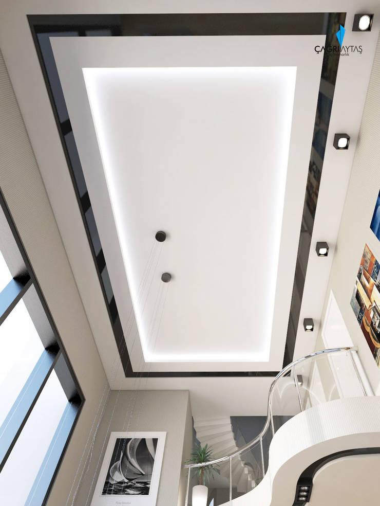 Çağrı Aytaş İç Mimarlık İnşaat – HANEDAN KONUTLARI: modern tarz Oturma Odası