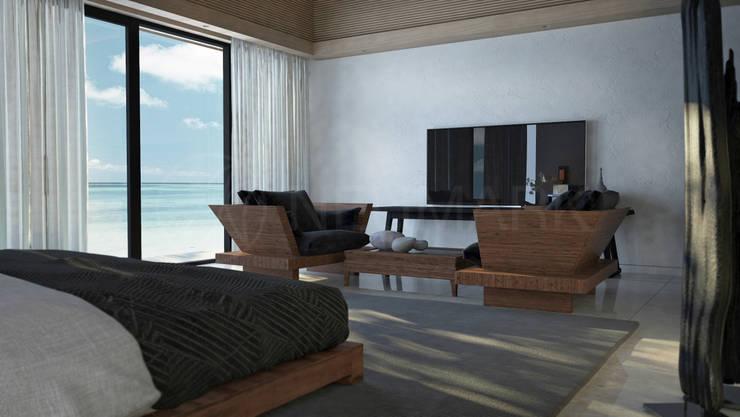 Интерьеры апартаментов отеля Sabah Al-Ahmad Khiran Сhalet, Кувейт: Спальни в . Автор – Anton Neumark
