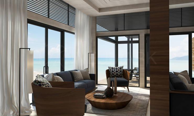 Интерьеры апартаментов отеля Sabah Al-Ahmad Khiran Сhalet, Кувейт: Гостиная в . Автор – Anton Neumark