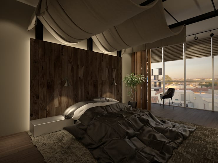 Industrial style bedroom by Room Краснодар Industrial