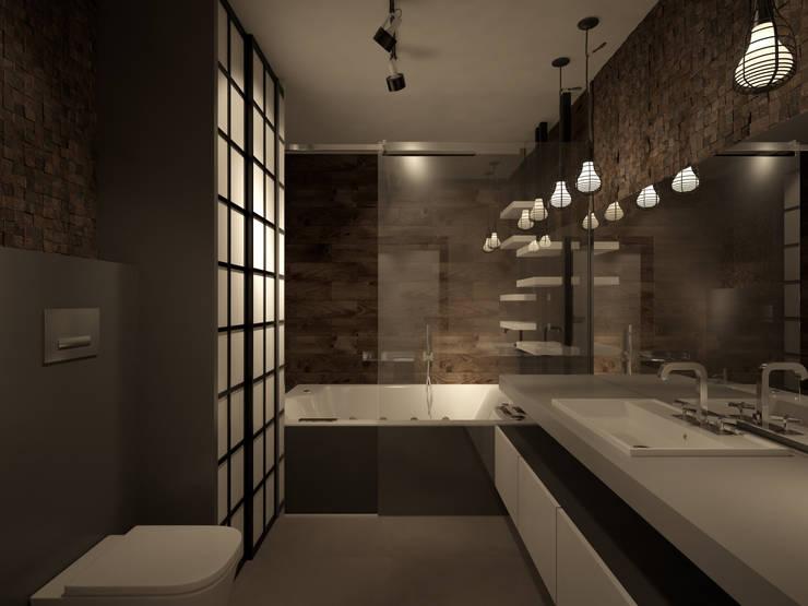 Квартира 200 кв.м. ЖК Европейский г. Краснодар: Ванные комнаты в . Автор – Room Краснодар