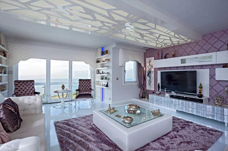 Living room by Mimoza Mimarlık