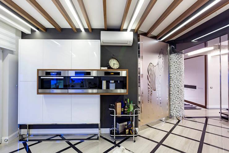 Mimoza Mimarlık – A. MORİTA EVİ  ANTALYA: modern tarz Mutfak