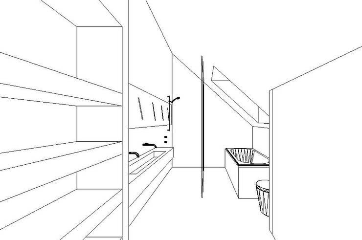 Ontwerp badkamer:   door Leonardus interieurarchitect