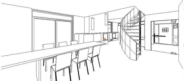 Ontwerp woonkamer:   door Leonardus interieurarchitect