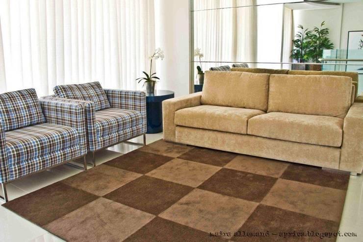 Projeto arquitetonico de área interna comum do Green Village Residence: Salas de estar  por ArchDesign STUDIO