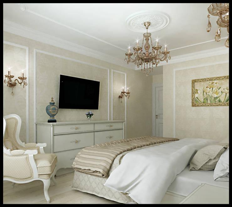 Спальня. Вид 2: Спальни в . Автор – Defacto studio, Классический