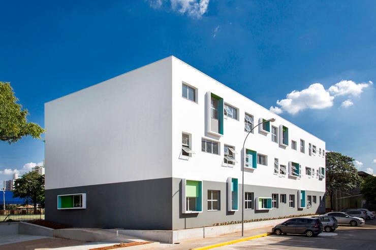 Biblioteca Liceu Salesiano Campinas: Escolas  por SAA_SHIEH ARQUITETOS ASSOCIADOS
