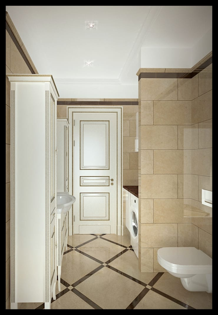 Гостевой санузел: Ванные комнаты в . Автор – Defacto studio