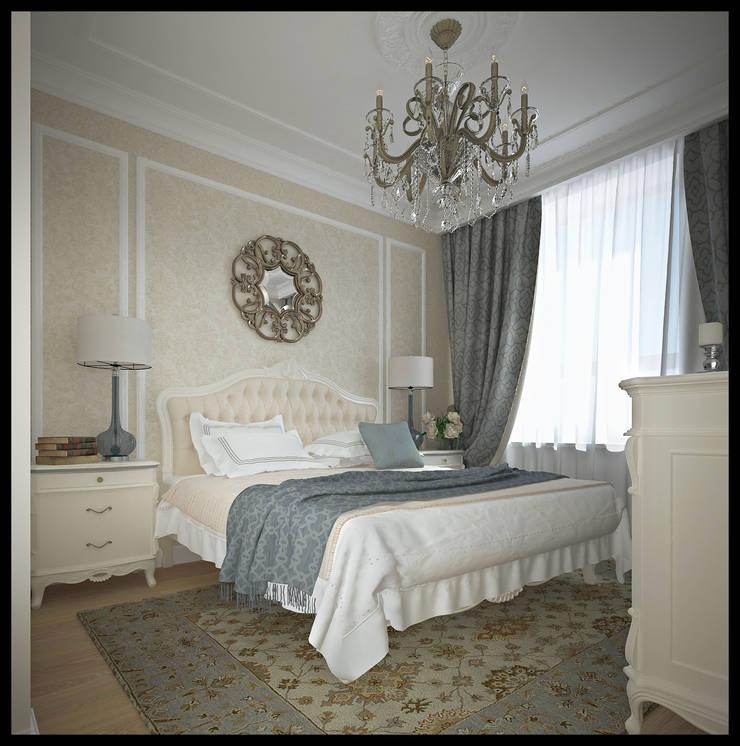 Спальня. Вид 2: Спальни в . Автор – Defacto studio