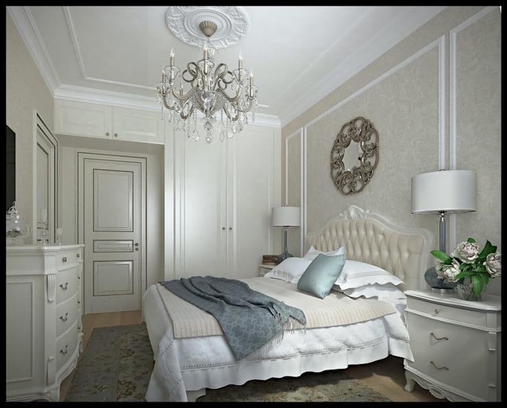 Спальня. Вид 1: Спальни в . Автор – Defacto studio