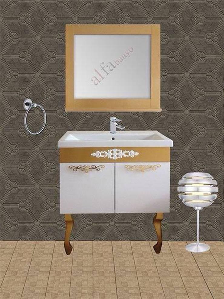 ALFA &BANYO – banyo dolabı  GOLD SERİ: rustik tarz tarz Banyo