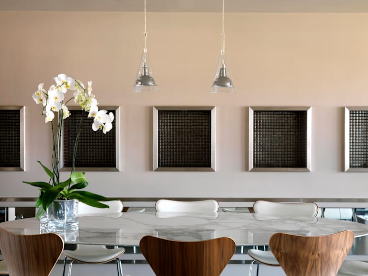 Attico sui Lungarni a Firenze: Sala da pranzo in stile  di Antonio Lionetti Home Design