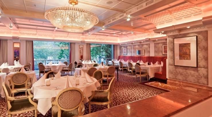 Raumkonzept für Brasserie-Style im Breidenbacher Hof, Düsseldorf:  Gastronomie von Dreiklang® Hotelkonzepte mit Charakter