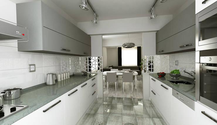 Niyazi Özçakar İç Mimarlık – N.Ö. EVİ: modern tarz Mutfak
