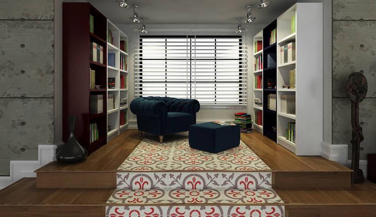 Niyazi Özçakar İç Mimarlık – A.Ö. EVİ: modern tarz Oturma Odası