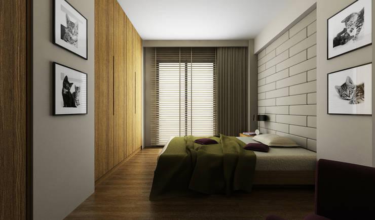 Niyazi Özçakar İç Mimarlık – H.Y. EVİ:  tarz Yatak Odası